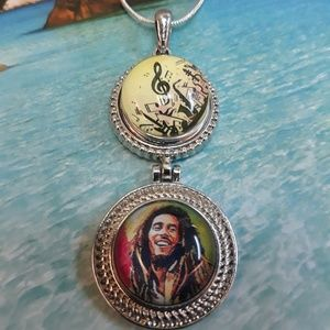 Bob Marley Necklace with Sterling Silver Chain